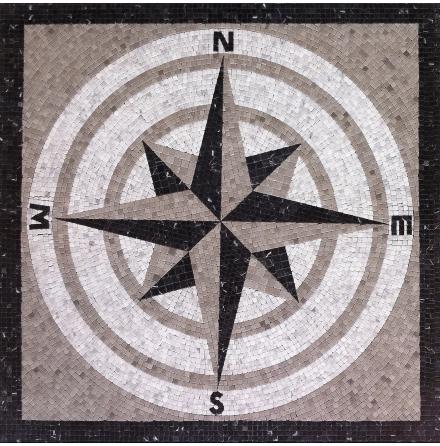 Kompassros marmor 10x10x8mm Sheet size 900x900mm